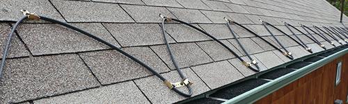 Usluge visinskih radova - Ugradnja grejača oluka