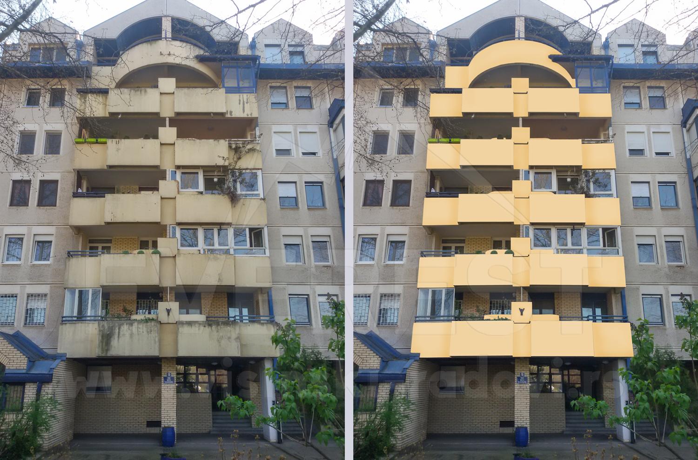 Krečenje fasade sa užeta