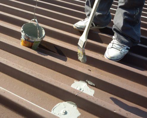 Hidroizolacija srafova na limenom krovu